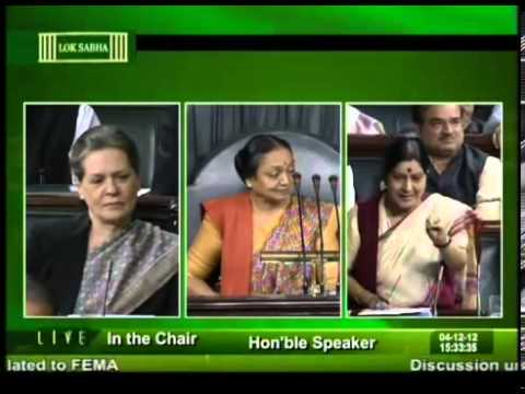 Sushma Swaraj answer to to Sonia Gandhi