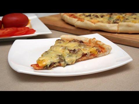 Вкусная пицца с фаршем рецепт с фото