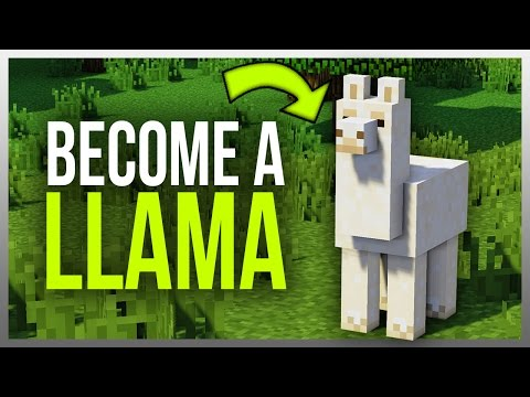✔️ How to Become a LLAMA in Minecraft! (Mod)