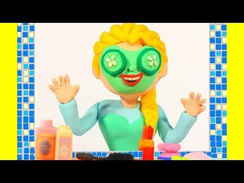 PRINCESS & SUPERHERO FACIAL MASK ❤ Superhero Babies Play Doh Cartoons For Kids