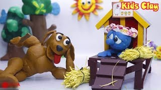 Blue Boy & Giant Dog 💖 Funny Play-Doh Cartoon 💖 Kids Clay