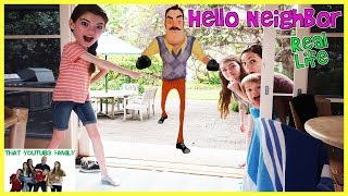 Hello Neighbor In Real Life At Beach House / That YouTub3 Family
