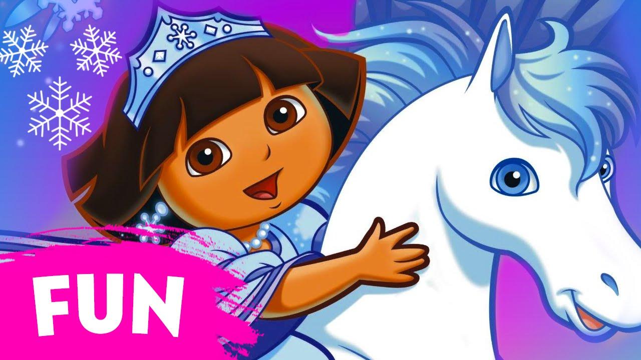 Dora saves the snow princess movie episode 3 run time 23 minutes youtube - Princesse dora ...