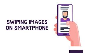 Swiping Images On Smartphone Template
