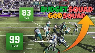OVER POWERED 100K BUDGET SQUAD TAKES ON 99 OVR GOD SQUAD!! Who will win??