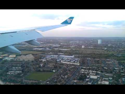 Oman Air Airbus A330-300 (A4O-DB) arriving at London Heathrow - 16 April 2012