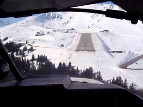 Landing Courchevel Airport Mooney M20J