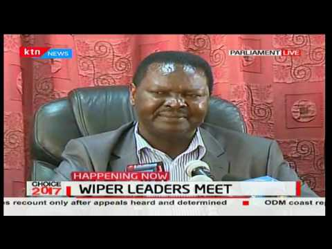Francis Nyenze says they received a raw deal now that Raila is NASA flag bearer