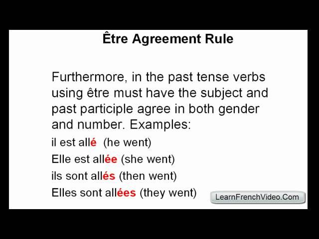 French Passé Composé - Être Verbs