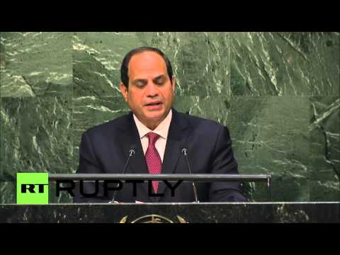 """UN: Egypt at """"forefront"""" of fight against """"terrorism"""" - Sisi"""