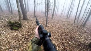 Wild hog hunting with Browning BAR composite 9,3x62 GOPRO 4 Silver