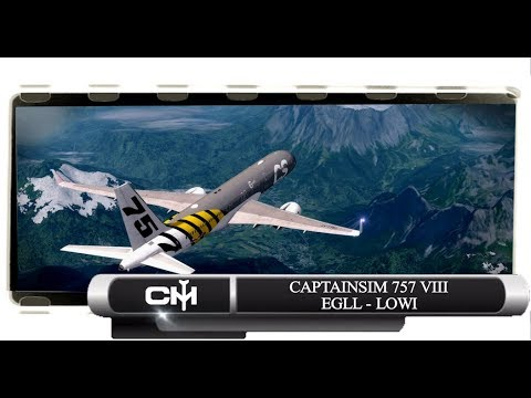 [P3D V4.1] CaptainSim 757 VIII | Full Flight Tutorial | EGLL to LOWI