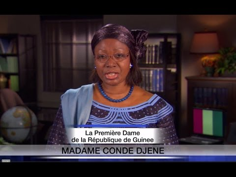 Ebola PSA from First Lady of Guinea, Hadja Djene Kaba Condé (in French)