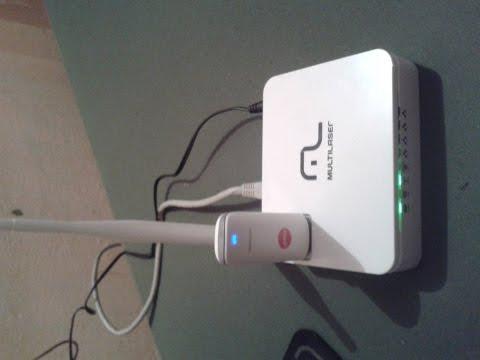 como configurar o roteador multilaser RE072 3G para usar com modem 3g