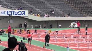 47th M.ODA WOMEN100mH heat3 Mako Fukube 13.62(-0.4)