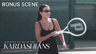 For Kourtney Kardashian The Tennis Struggle Is Real! | KUWTK Bonus Scene | E!