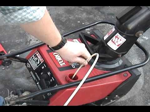 Toro CCR-E Powerlite snowblower - carburetor service