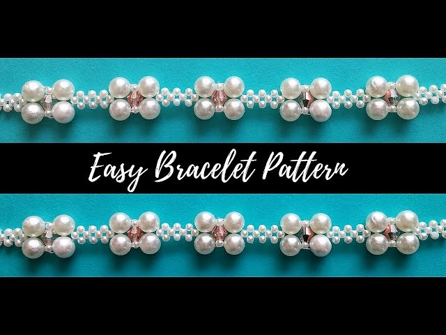 Beaded bracelet. Beading tutorial (easy bracelet pattern)