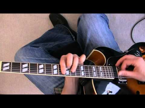 Swing Jazz Guitar Lesson - Charlie Christian style solo to Six...