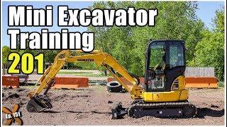 How to Operate a Mini Excavator - Advanced // Heavy Equipment Operator