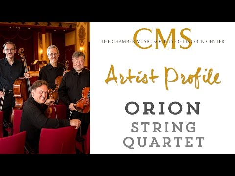 Orion String Quartet - April 2015, CMS Artist Profile