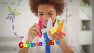 WowWee Magnaflex Rainbow Set (34 Pieces) - Flexible Magnetic Construction Kit