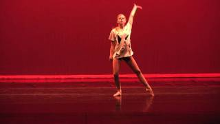 Emily Hordesky performing to Russian Roullette (Washington College Dance Concert)