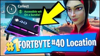 FORTBYTE 40 Location - ACCESSIBLE WITH THE DEMI OUTFIT ON A SUNDIAL IN THE DESERT (Fortnite)