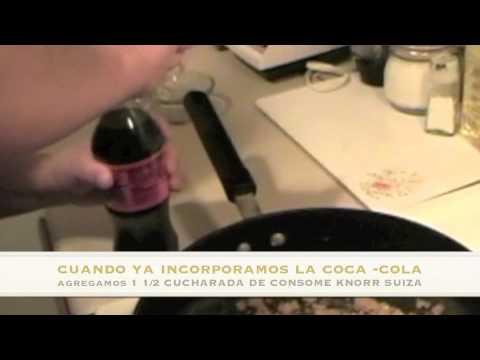 chuletas de cerdo con coca-cola