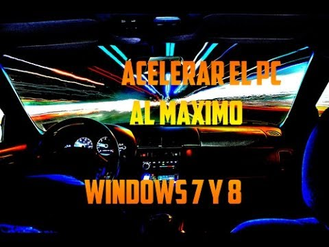 Como Acelerar el PC al MAXIMO! / Optimizar / Limpiar / Windows 8 Y 7 [Sin Programas]