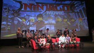 """""""The LEGO NINJAGO Movie"""" Press Conference with cast (Jackie Chan, Dave Franco, Olivia Munn & more)"""