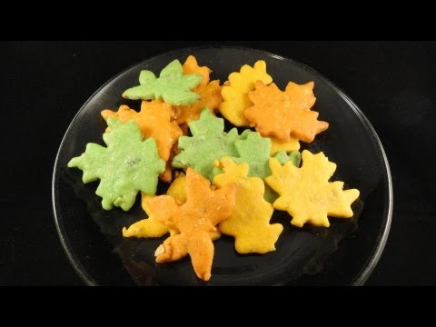 Fall Leaves Cookies (Almond Raisin Crisp Cookies)