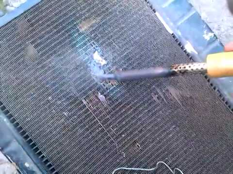Как запаять радиатора ваз