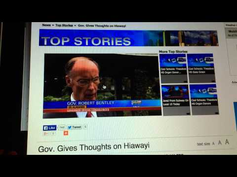 AL Gov. Robert Bentley being insensitive following the murder of an 8 year old