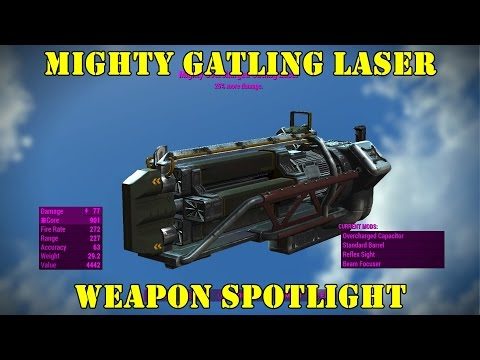 Fallout 4: Weapon Spotlights: Mighty Gatling Laser