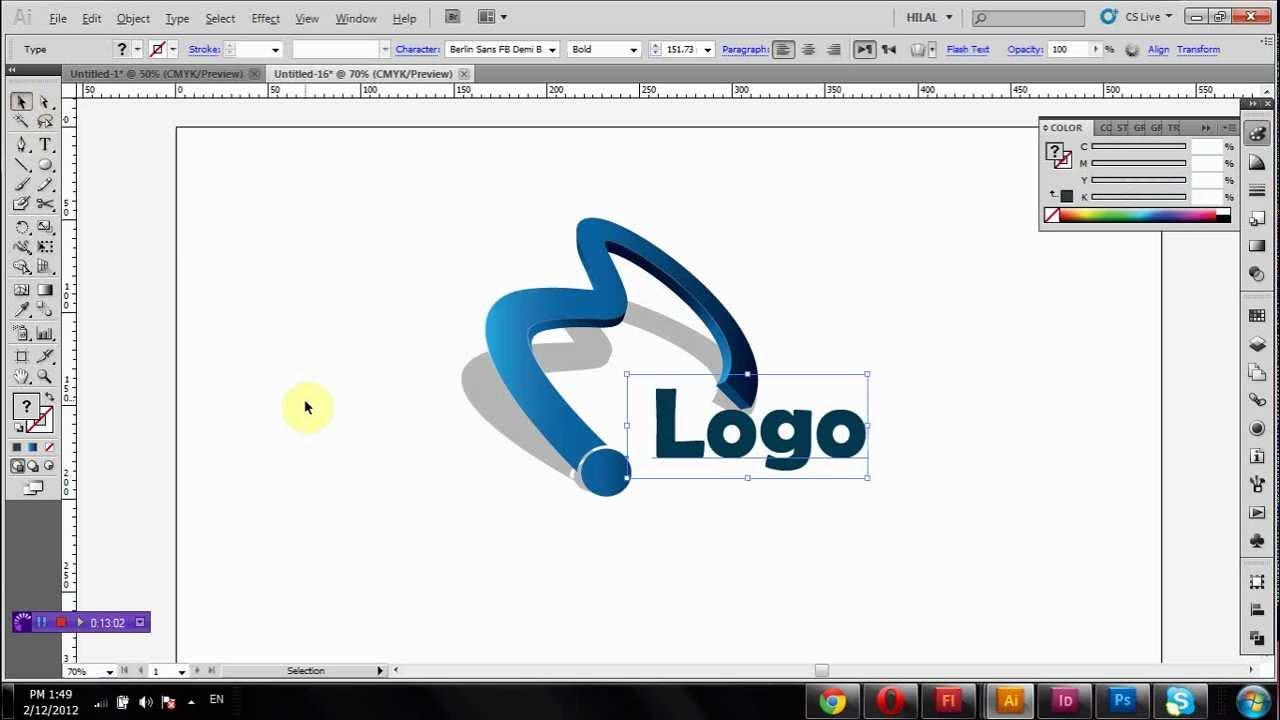 Как сделать логотип в иллюстраторе