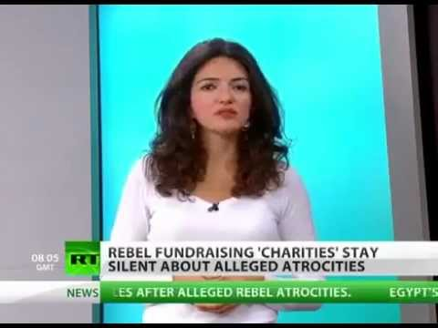 ANTI ASSAD ARMY   REBELS Fundraising Charities to buy MILITARY equipment!