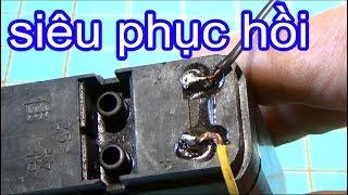 Cách phục hồi bình ắc quy cũ, sửa  acquy restore a car battery. TIP5