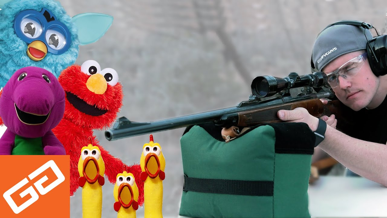 Ever Tried Shooting A Tickle Me Elmo?