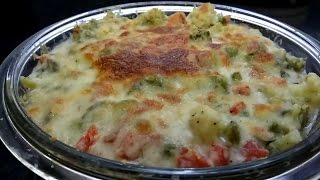 Baked vegetable | perfect for breakfast lunch n dinner recipes|veg au gratin