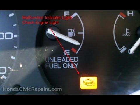 turn  honda civiccrv engine light   youtube