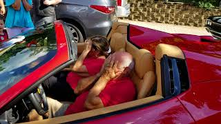 Surprising dad with a Ferrari.