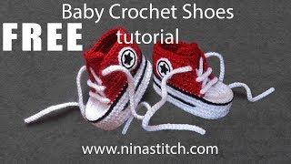 Baby Crochet Shoes Tutorial