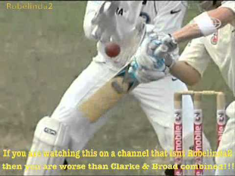 Michael Clarke refuses to walk *DOES A 'BROAD'*, edges to slip vs Kumble 2008