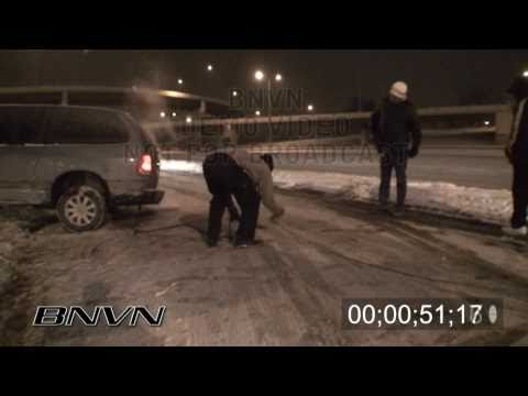 1/13/2009 Sub Zero Road Hazard Snow Footage