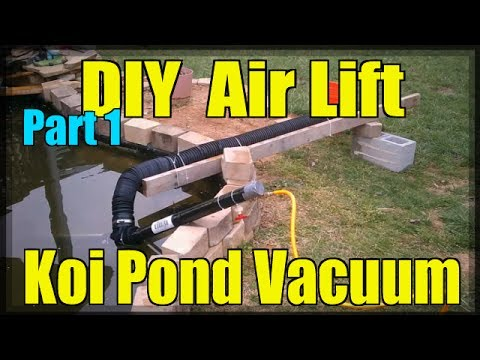 DIY Air Lift Koi Pond Vacuum (Part 1/3)