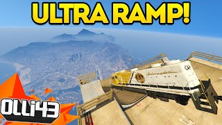GTA 5 Ultra Mega Ramp Meets the Train! GTA 5 Mods Showcase : Episode 32