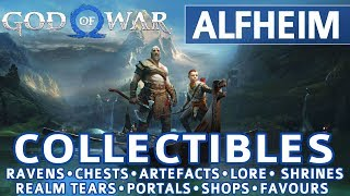 God of War - Alfheim All Collectible Locations (Ravens, Chests, Artefacts, Shrines) - 100%