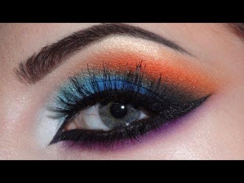 Arabic makeup (blue.orange.purple)