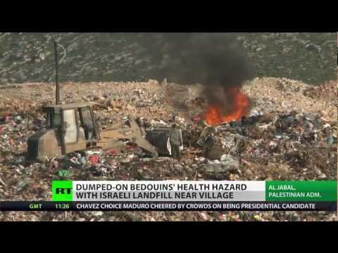 Dumped-on Bedouins' health hazard with Israeli landfill near village